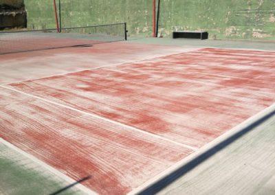 Restauración pista tenis, Can Valls