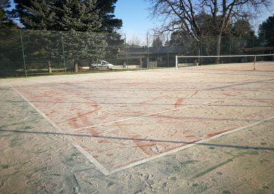 Restauración pista tenis, La Selva